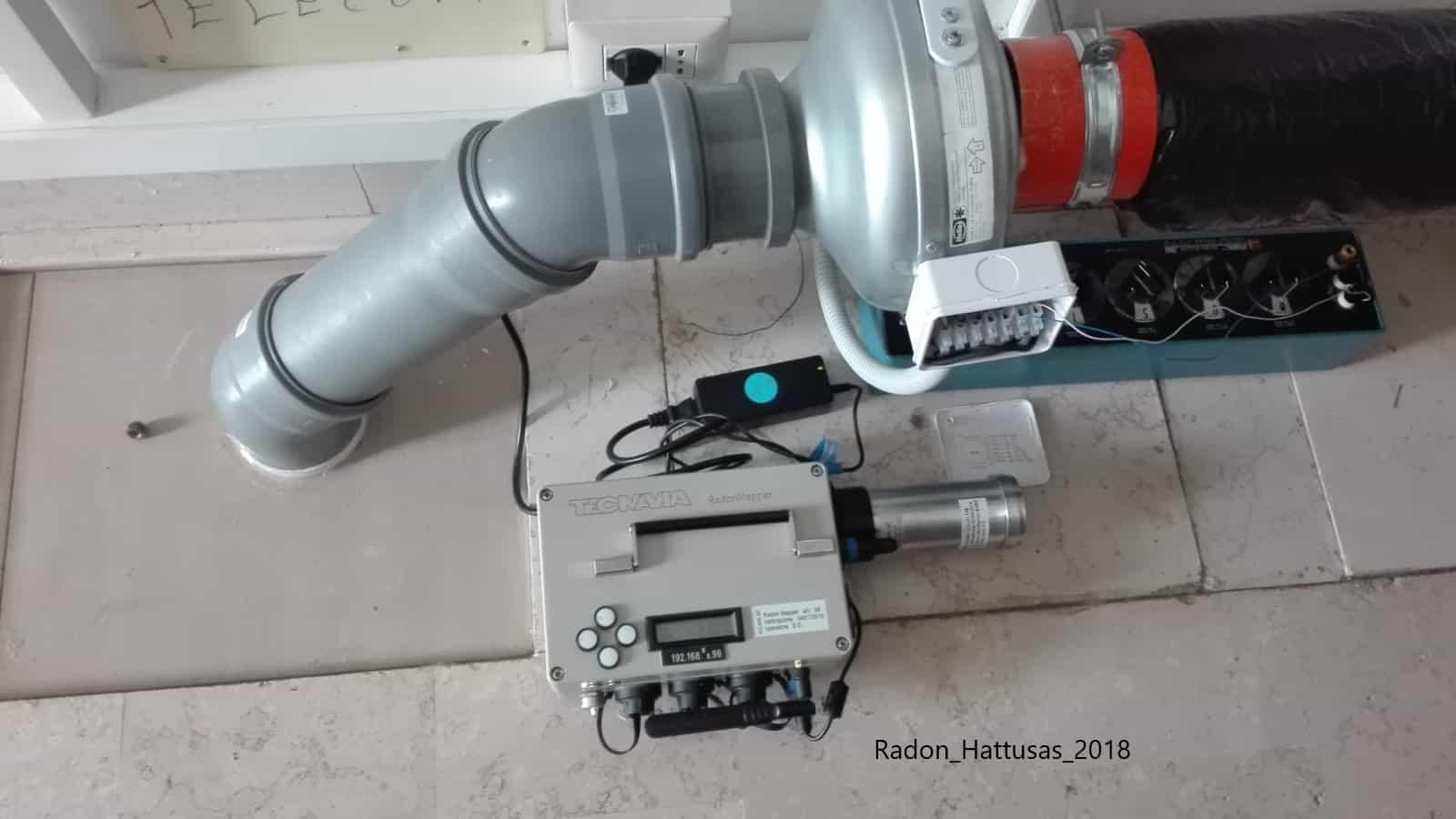 Hattusas - Radon - Tecniche di Risanamento e Bonifica - Sistema di ventilazione forzata del vespaio per bonifica gas radon